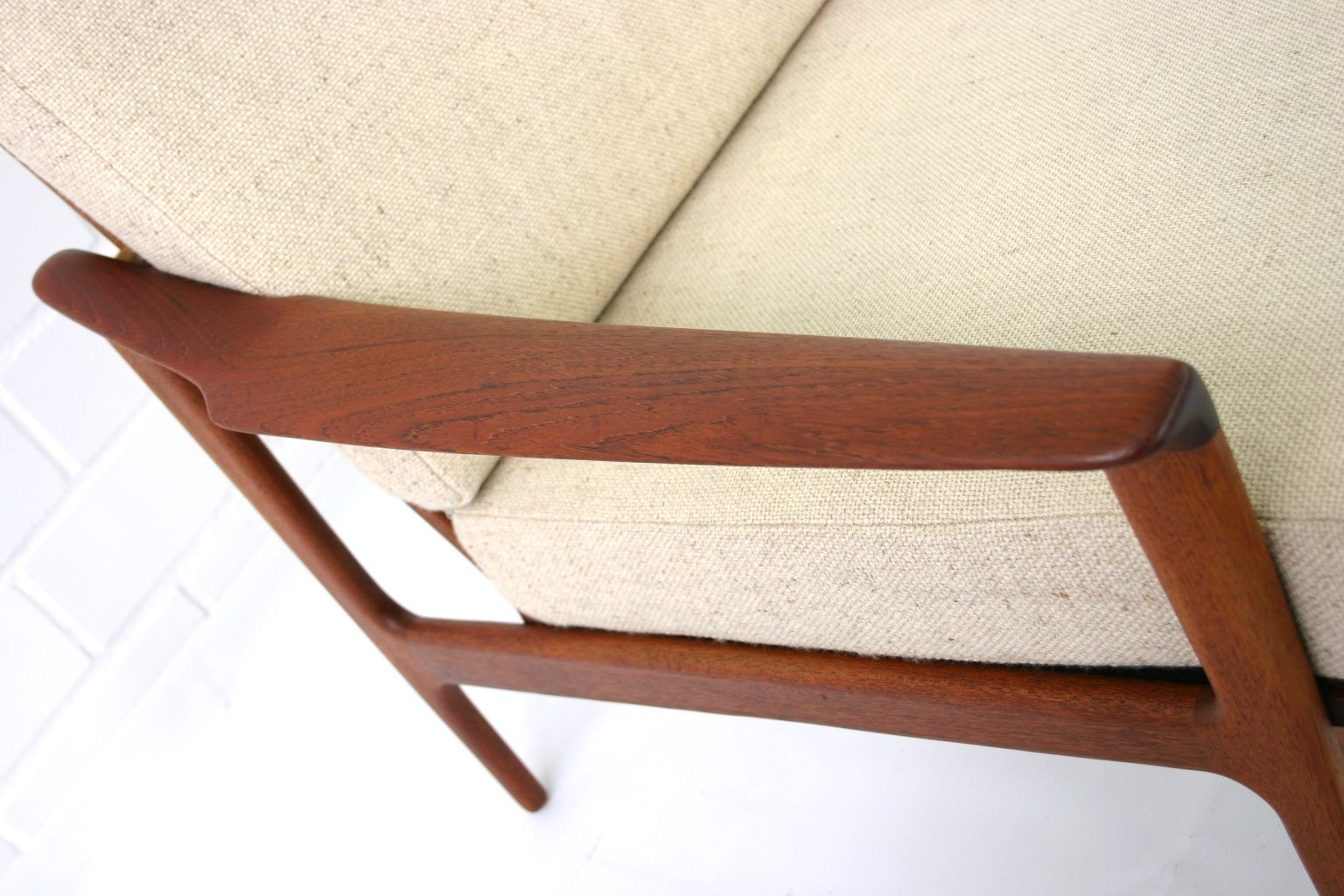 ... Selig Z Chair Straps By Mid Century Danish Teak Lounge Chair By Ib  Kofod Larsen ...