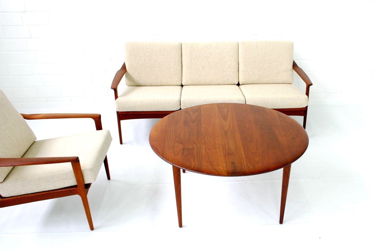 Mid Century Danish Teak Lounge Chair By Ib Kofod Larsen For Selig For Sale At Pamono