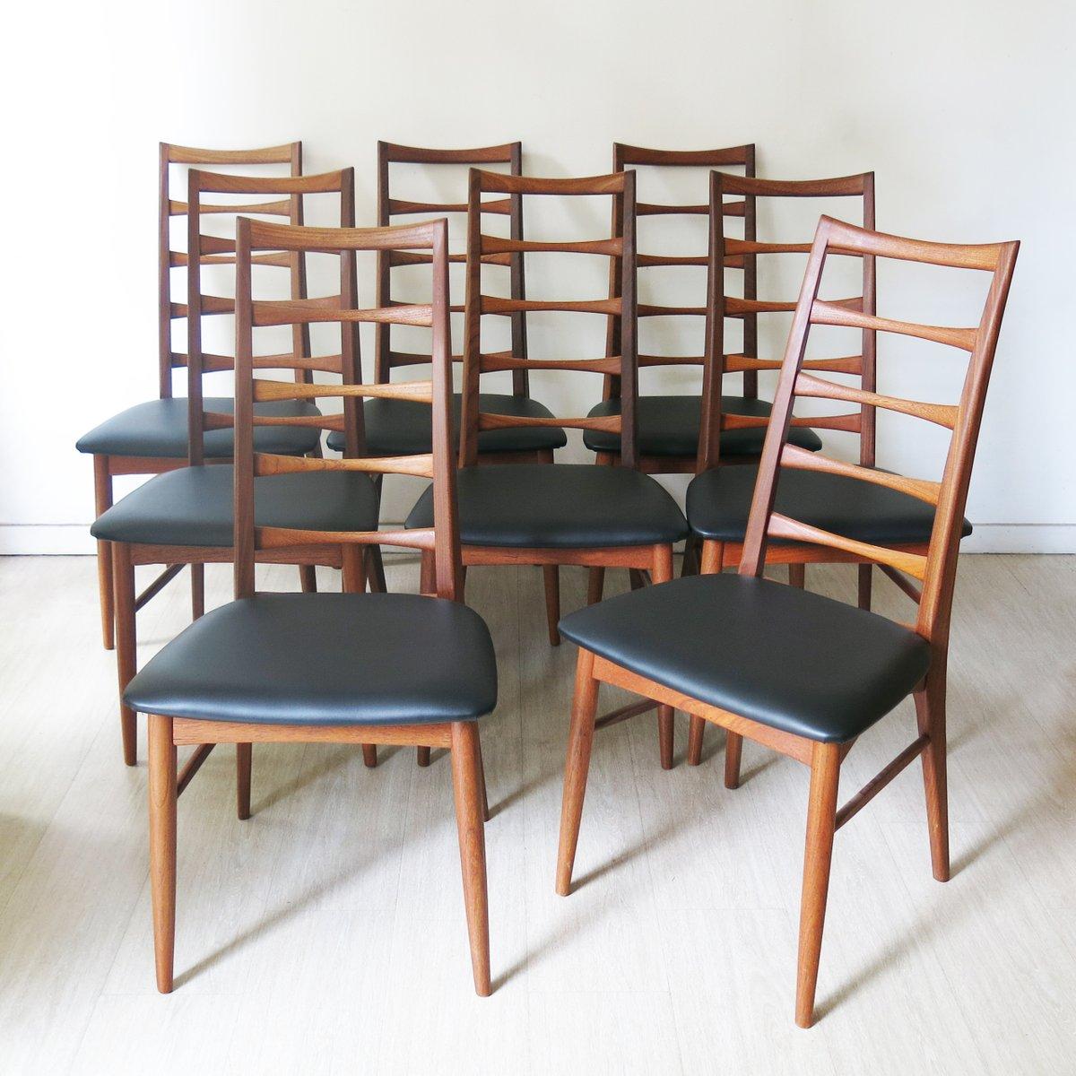 Chaises de salon en teck par niels koefoed pour koefoed for Chaise pour salon