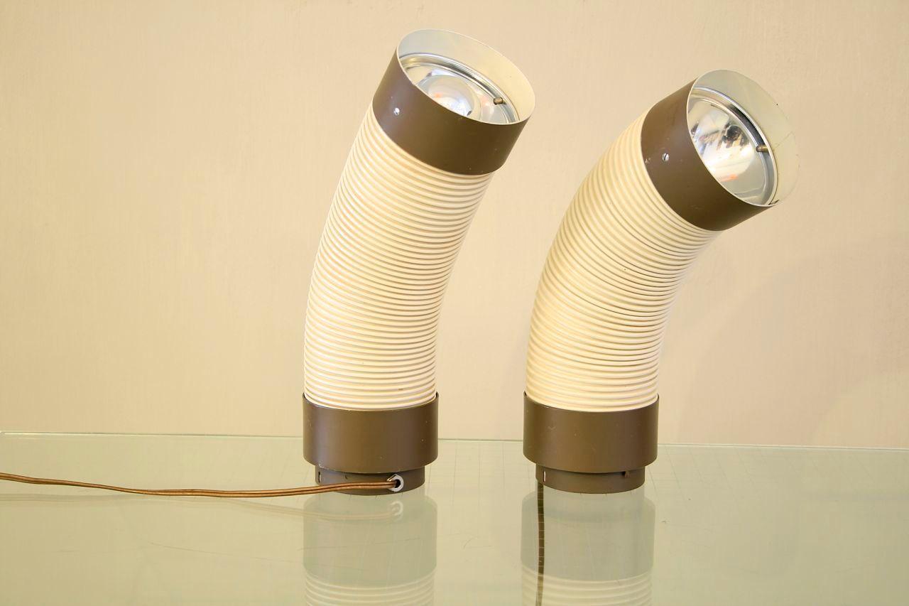 Biegbare niederl ndische mid century lampen von raak 2er for Lampen niederlande