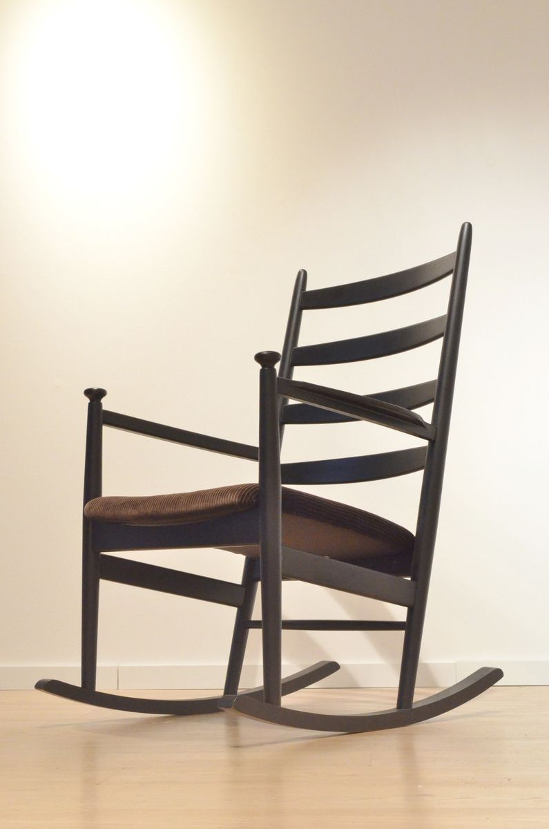 Mid century wood rocking chair - Mid Century Swedish Wooden Rocking Chair By Poul M Volther For Gemla