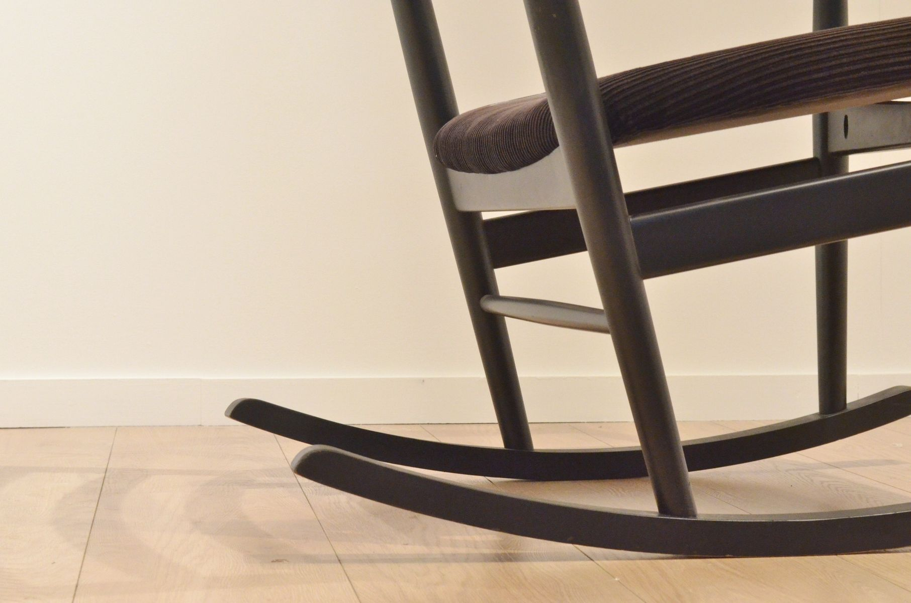 Mid Century Swedish Wooden Rocking Chair by Poul M Volther for