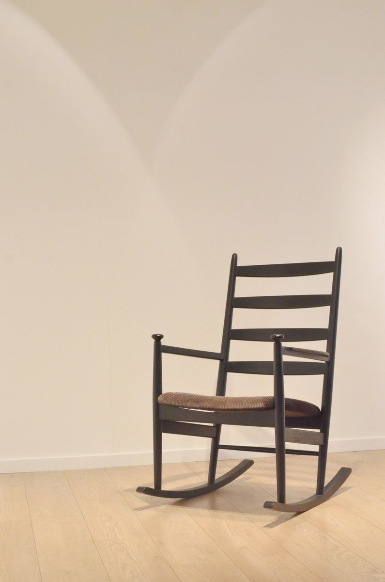 midcentury swedish wooden rocking chair by poul m volther for gemla for sale at pamono - Wood Rocking Chair