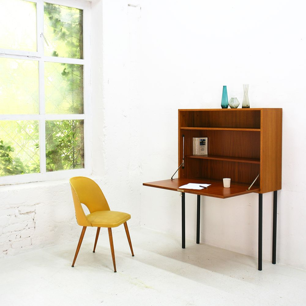 deutscher teak sekret r von wk m bel 1960er bei pamono kaufen. Black Bedroom Furniture Sets. Home Design Ideas