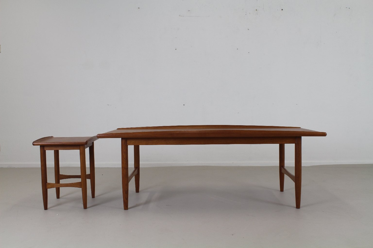 Danish Organic Edged Teak Coffee Table Set 1960s For Sale At Pamono