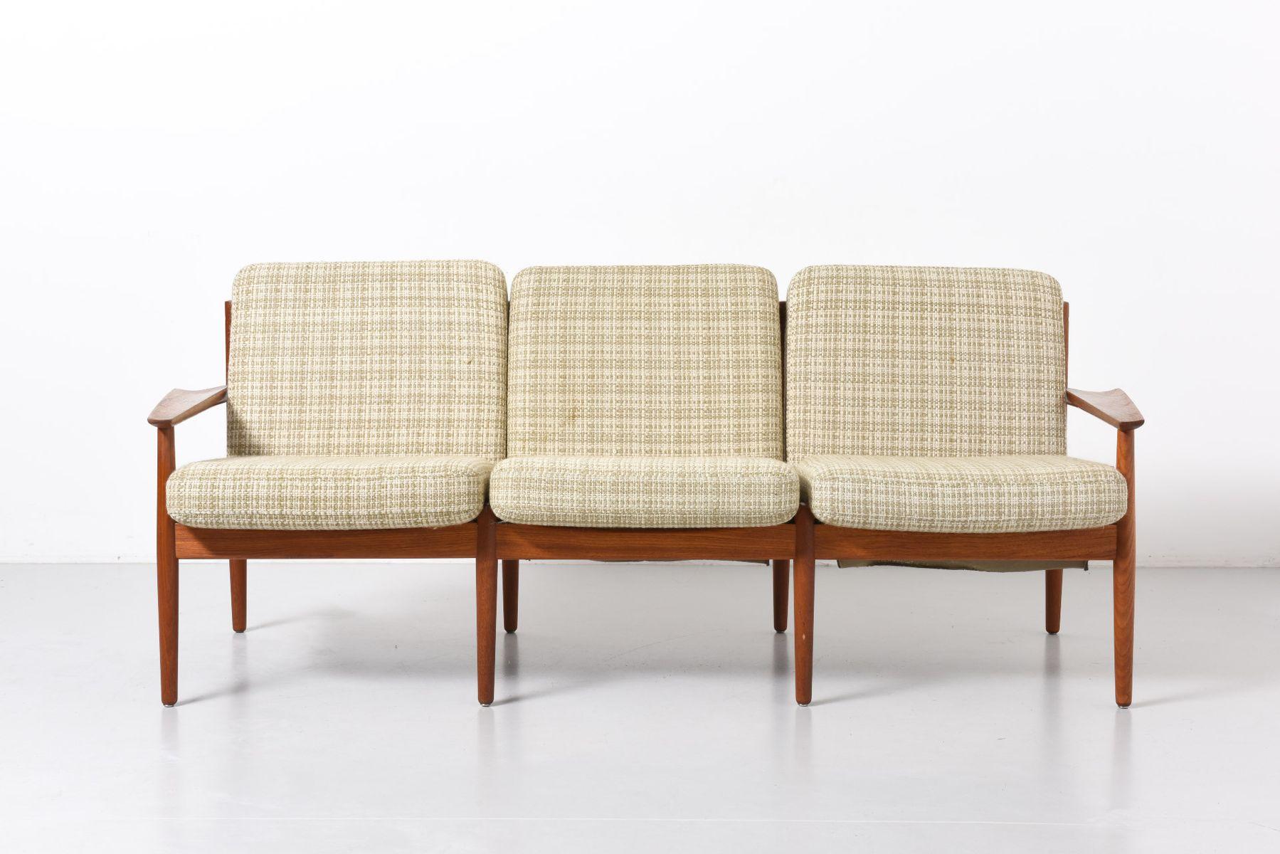Danish Three Seater Sofa by Arne Vodder for Glostrup M¸belfabrik
