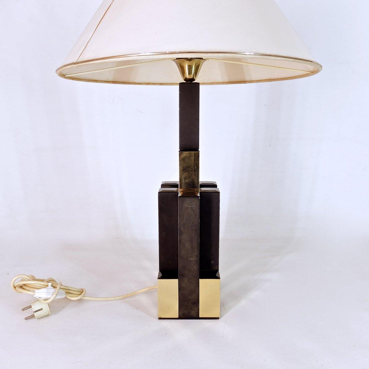 art deco tischlampe aus messing 1970er bei pamono kaufen. Black Bedroom Furniture Sets. Home Design Ideas