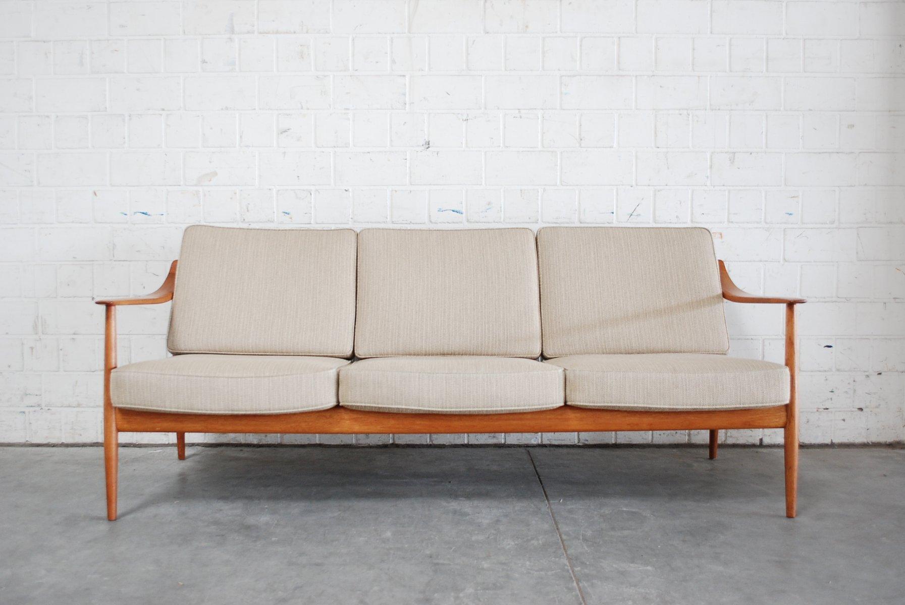 canap en teck par knoll antimott danemark en vente sur. Black Bedroom Furniture Sets. Home Design Ideas