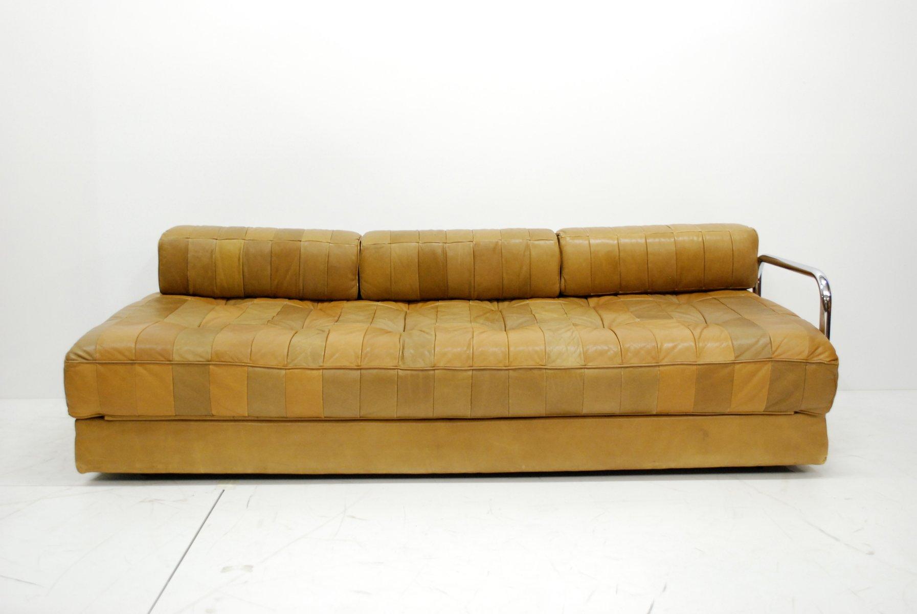 vintage caramel ds 80 leather daybed from de sede for sale at pamono. Black Bedroom Furniture Sets. Home Design Ideas
