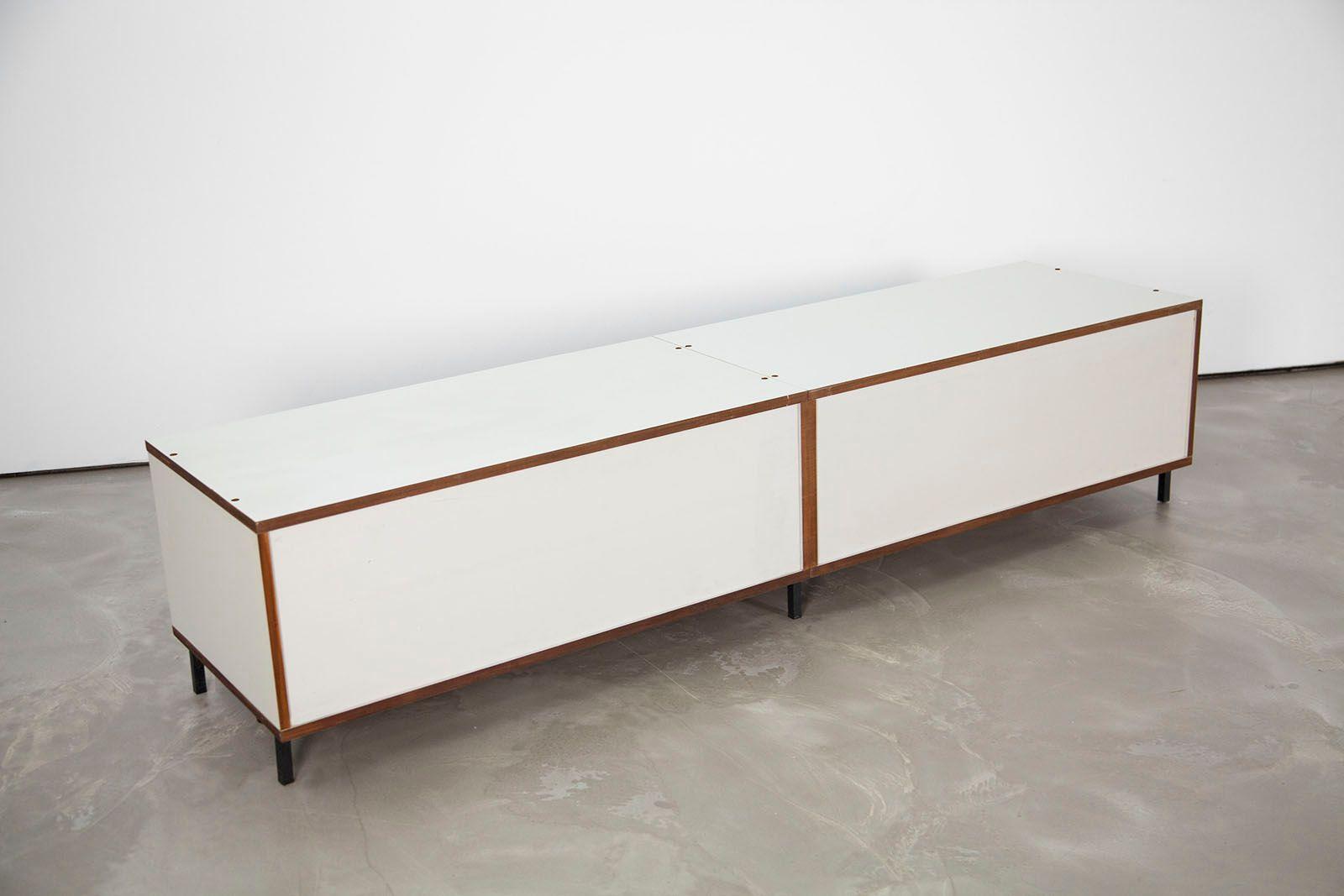 german m 125 formica sideboard with sliding doors by hans gugelot for bofinger 1956 for sale at. Black Bedroom Furniture Sets. Home Design Ideas