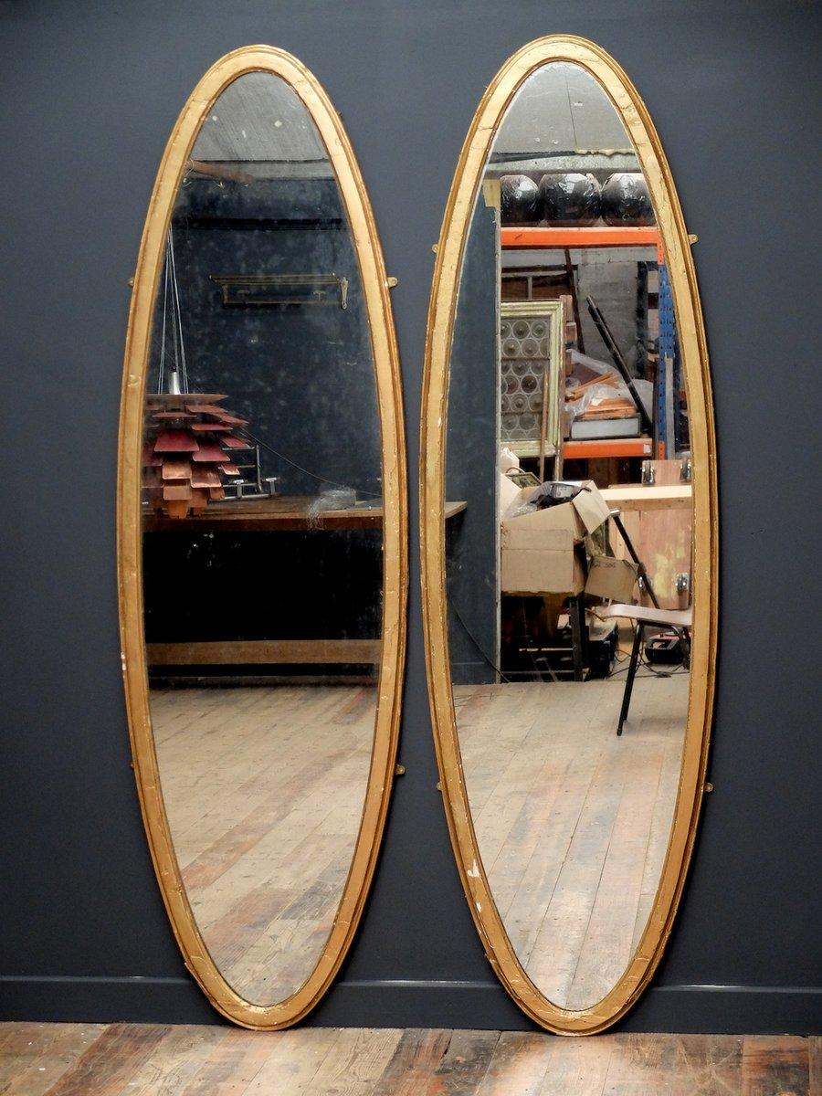 gro e ovale walisische spiegel 1820er 2er set bei pamono kaufen. Black Bedroom Furniture Sets. Home Design Ideas