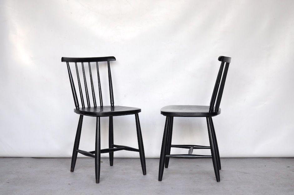 schwarze essst hle 4er set m belideen. Black Bedroom Furniture Sets. Home Design Ideas