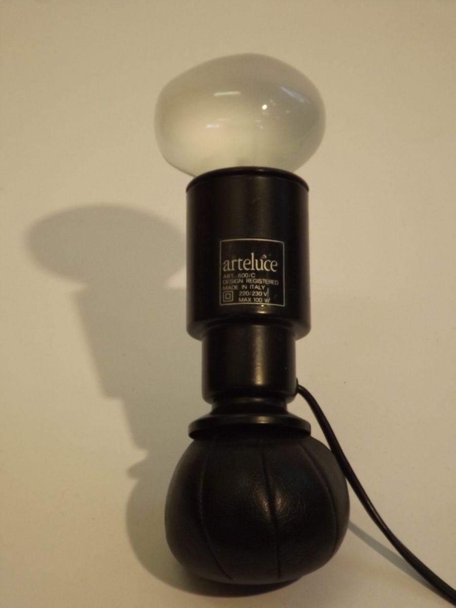 vintage 600 c lampe mit gl hbirne von gino sarfatti f r arteluce bei pamono kaufen. Black Bedroom Furniture Sets. Home Design Ideas