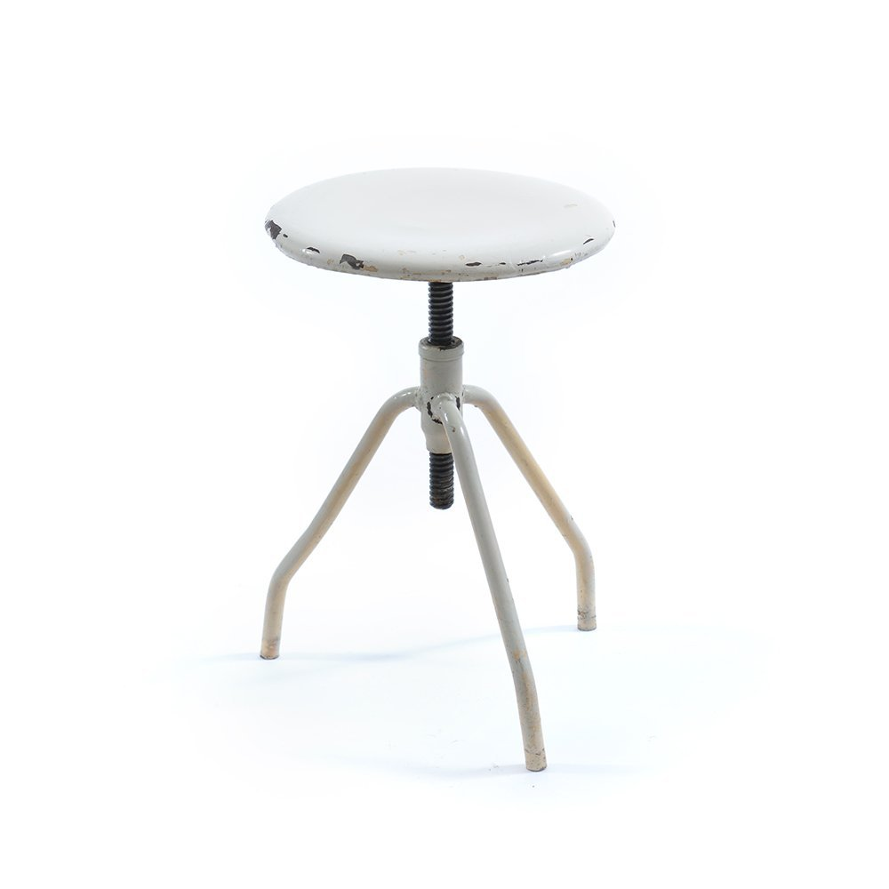Industrial Metal Swivel Stool For Sale At Pamono