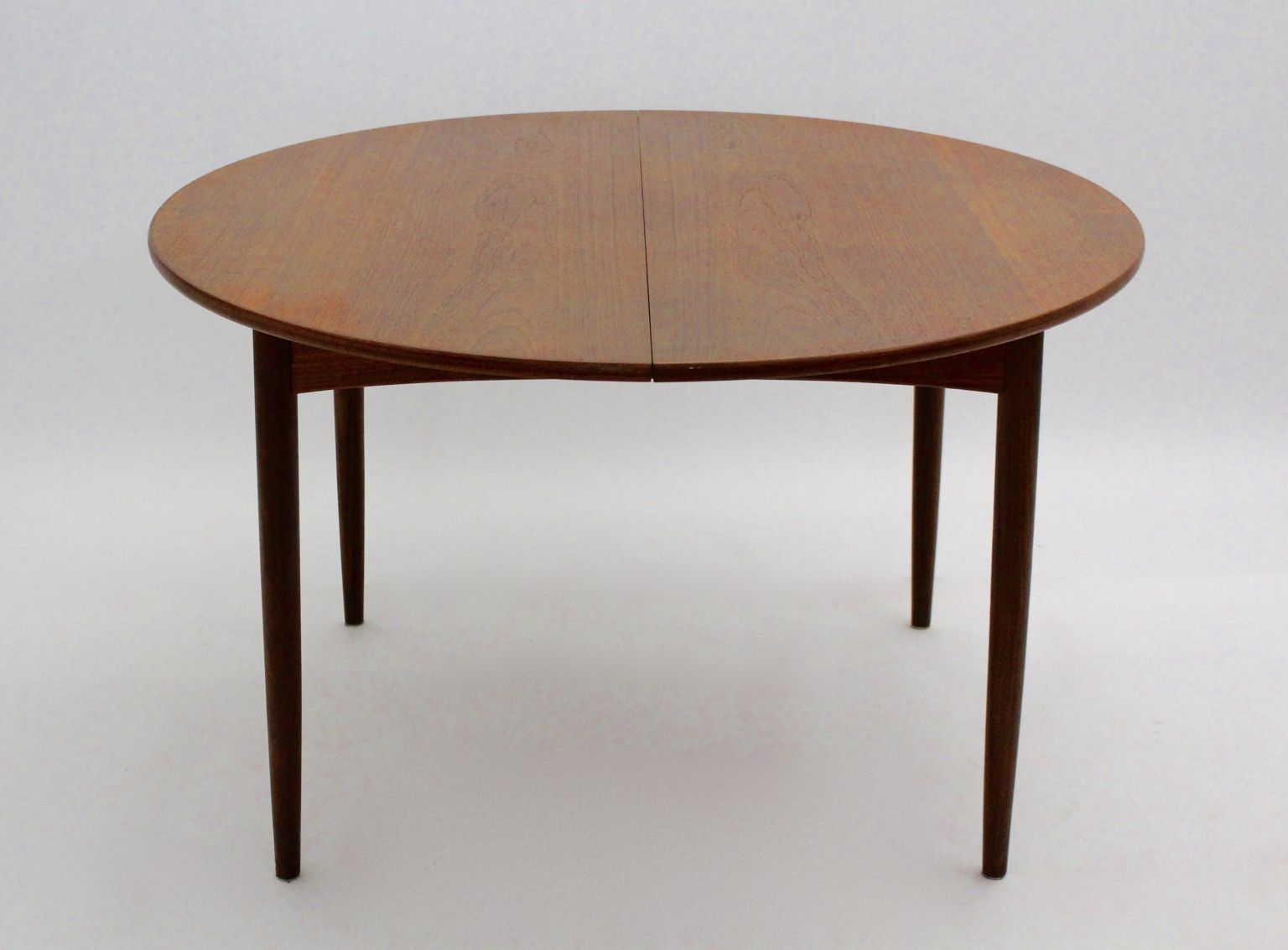 danish round extendable teak dining table 1960s for sale
