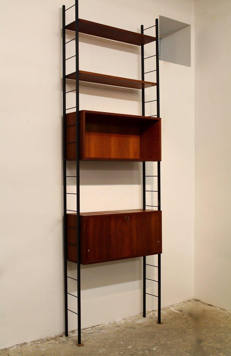 Libreria in teak a forma di scala con scrittoio austria for Libreria in vendita