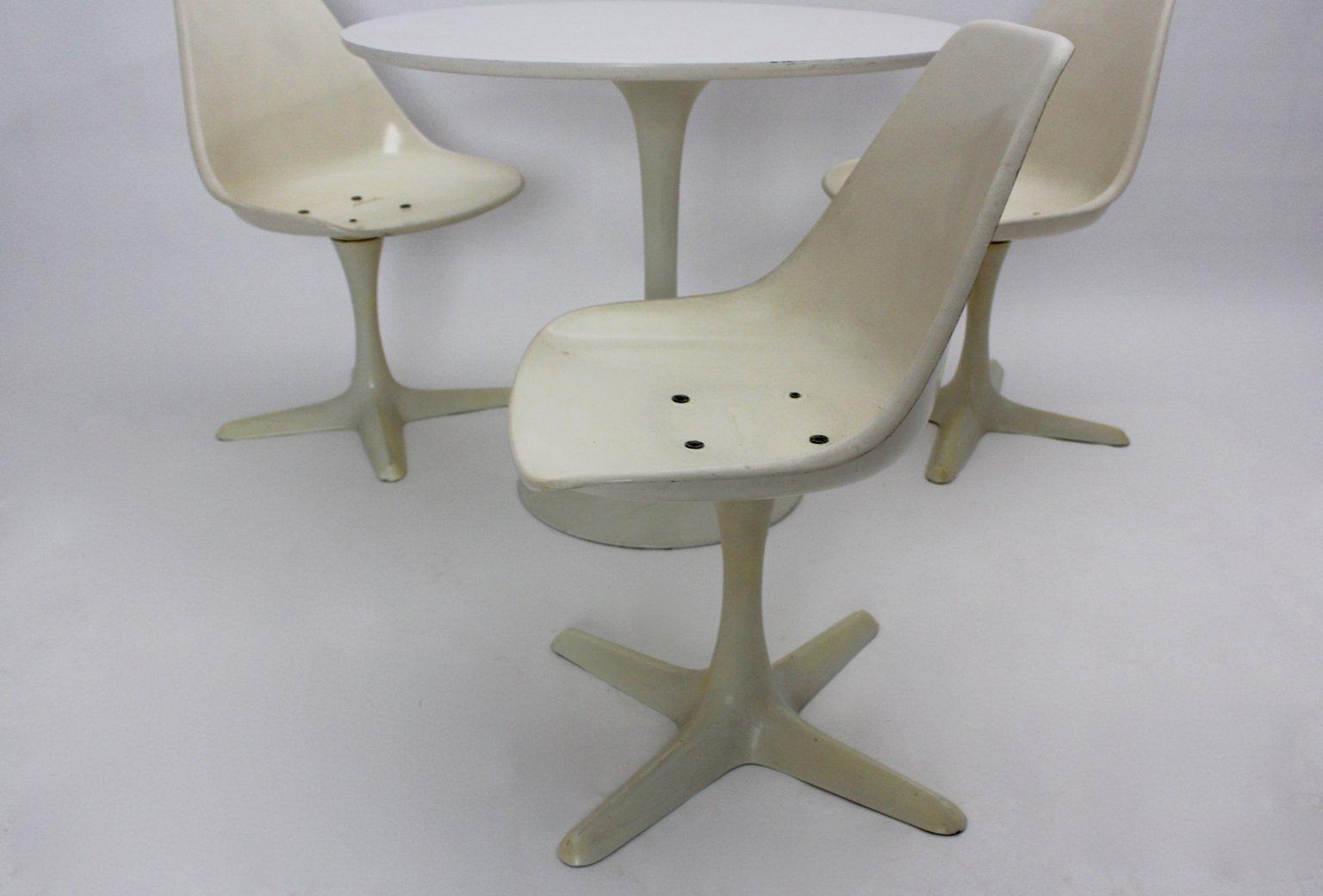 Britisches Tisch U0026 Stühle Esszimmerset Von Maurice Burke Für Arkana,  1960er, 4er Set