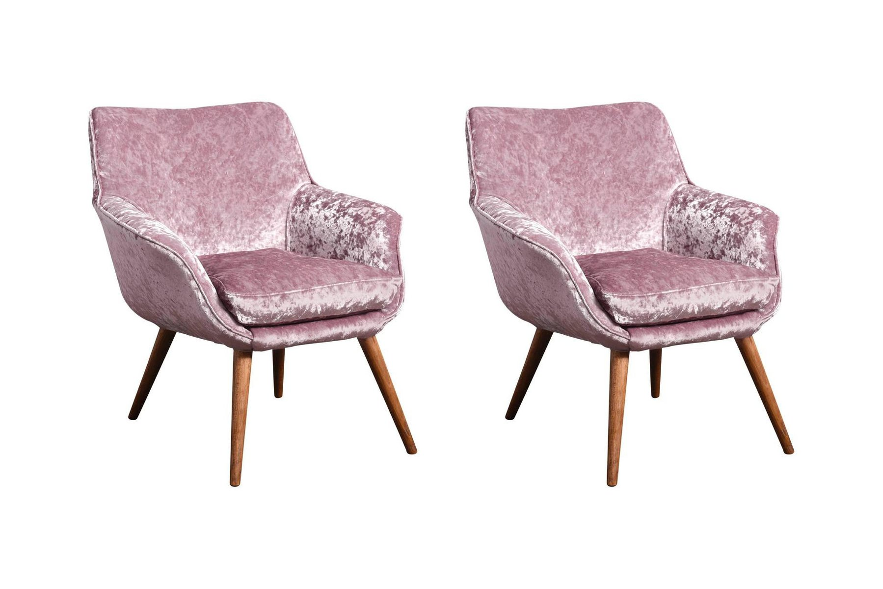 Ash and Velvet Cocktail Chairs 1960s Set of 2 for sale at Pamono