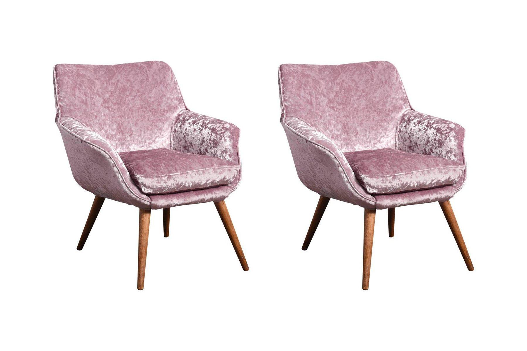 cocktail sessel aus esche samt 1960er 2er set bei. Black Bedroom Furniture Sets. Home Design Ideas
