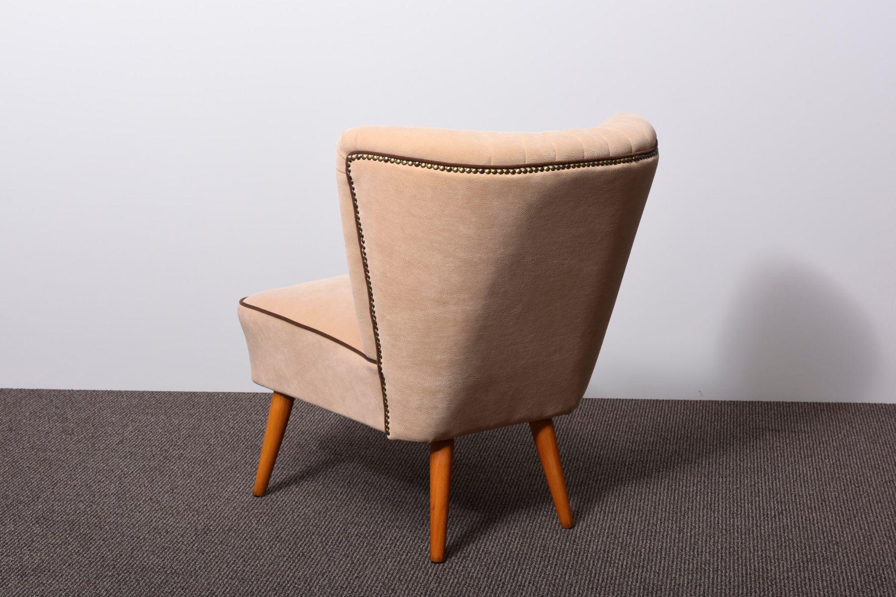 chaise cocktail avec dossier en coquillage 1950s set de 2 en vente sur pamono. Black Bedroom Furniture Sets. Home Design Ideas