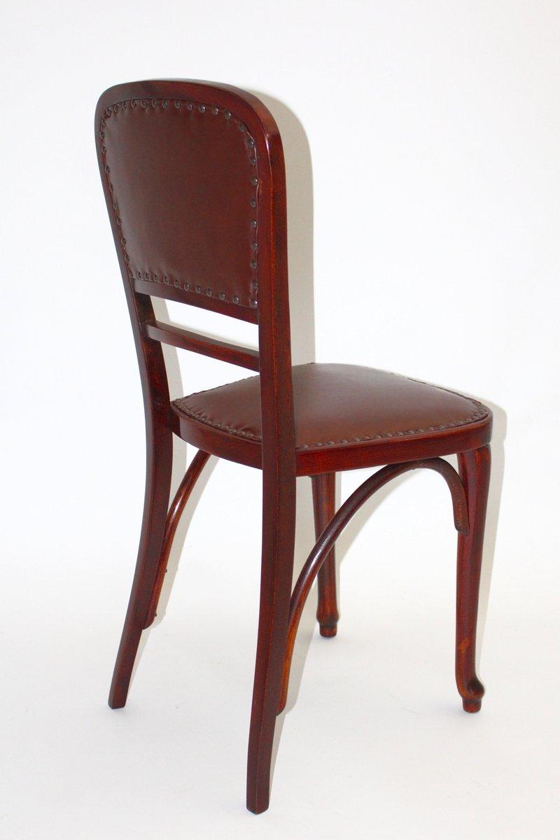Sterreichischer modell nr 491 stuhl aus buche leder for Stuhl buche