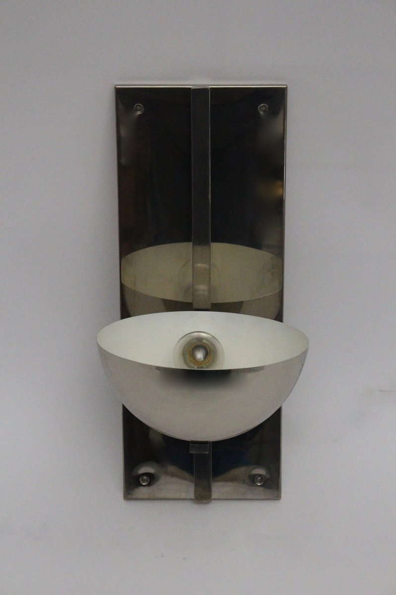 franz sische verchromte metall art deco wandlampe 1930er bei pamono kaufen. Black Bedroom Furniture Sets. Home Design Ideas