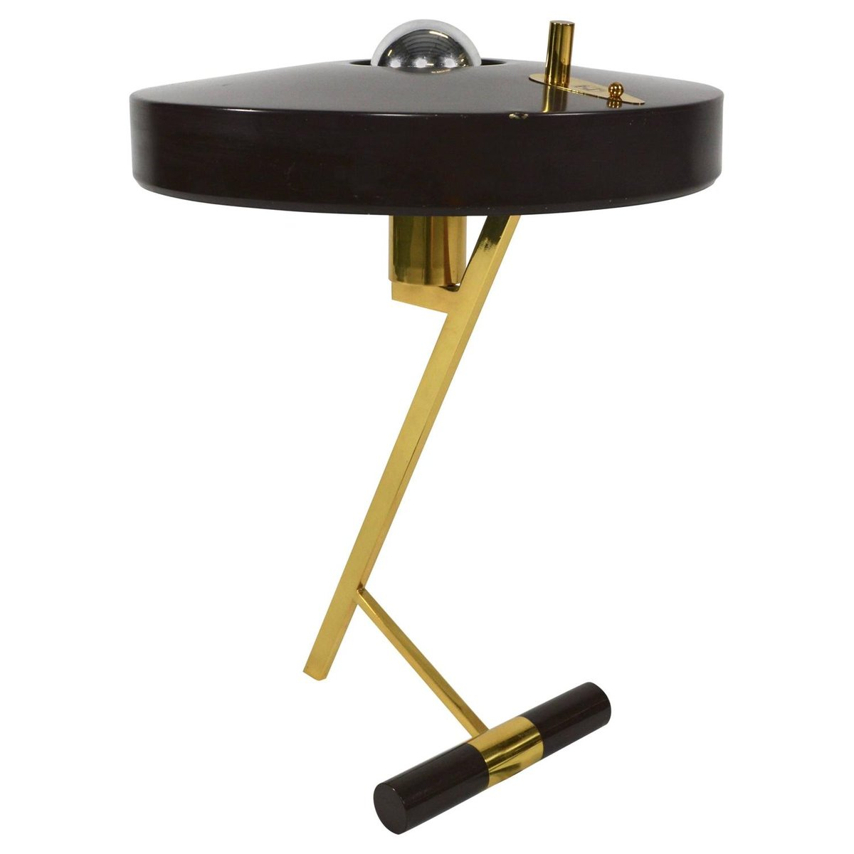 Dutch z shaped table lamp by louis kalff for philips for Z bar table lamp