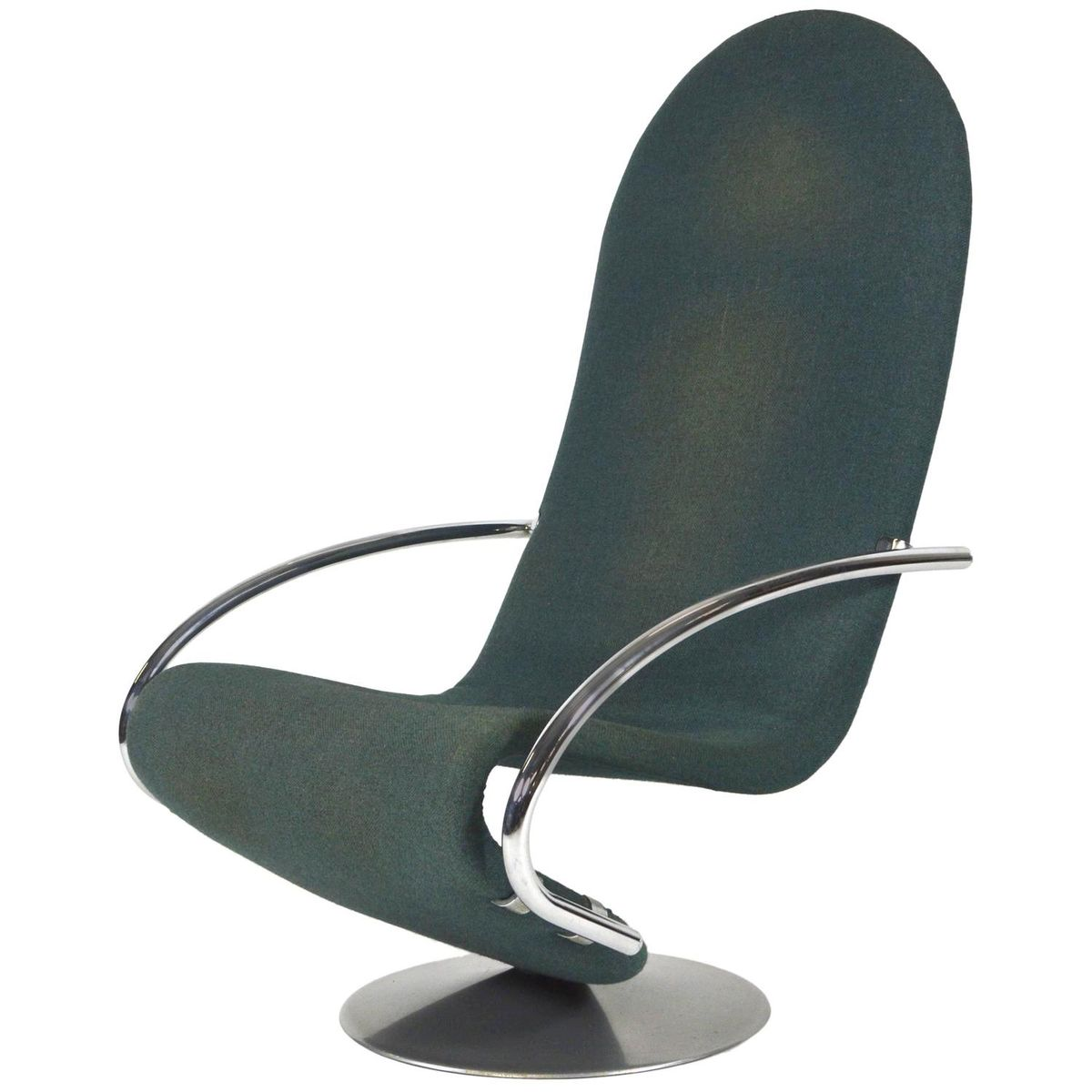 chair 1 2. danish 1-2-3 swivel lounge chair by verner panton for fritz hansen, 1970s 1 2 i