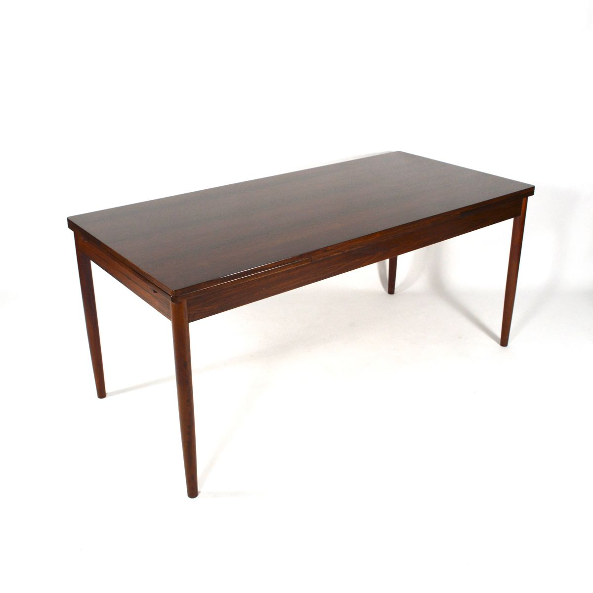 Mid Century Large Extendable Rosewood Dining Table 1950s