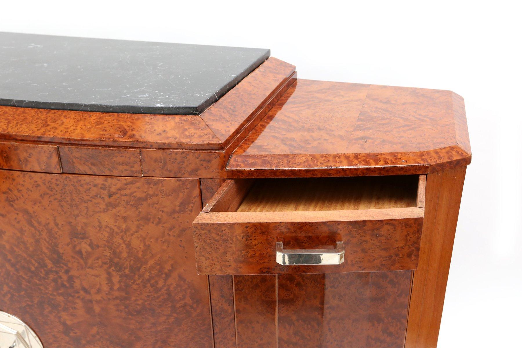 description vintage design art deco office credenza