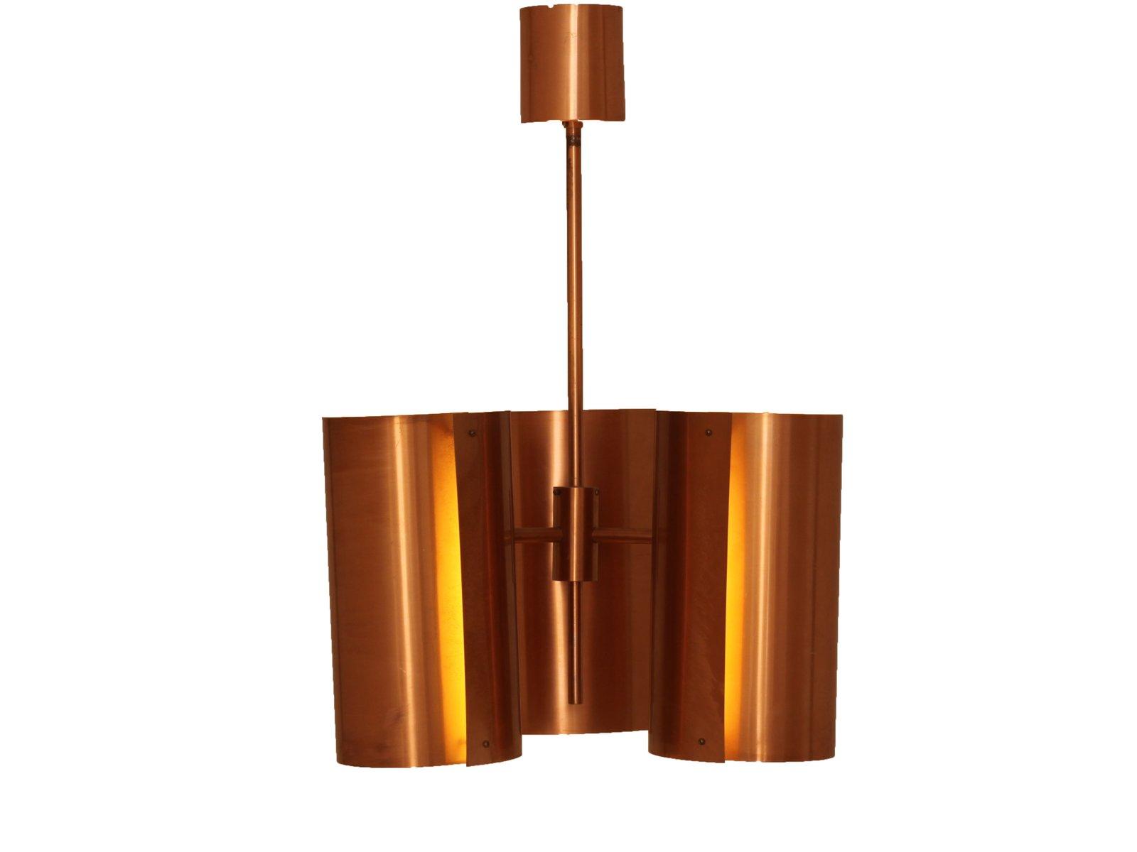 kupfer h ngelampe von hans agne jakobsson f r ab markaryd. Black Bedroom Furniture Sets. Home Design Ideas