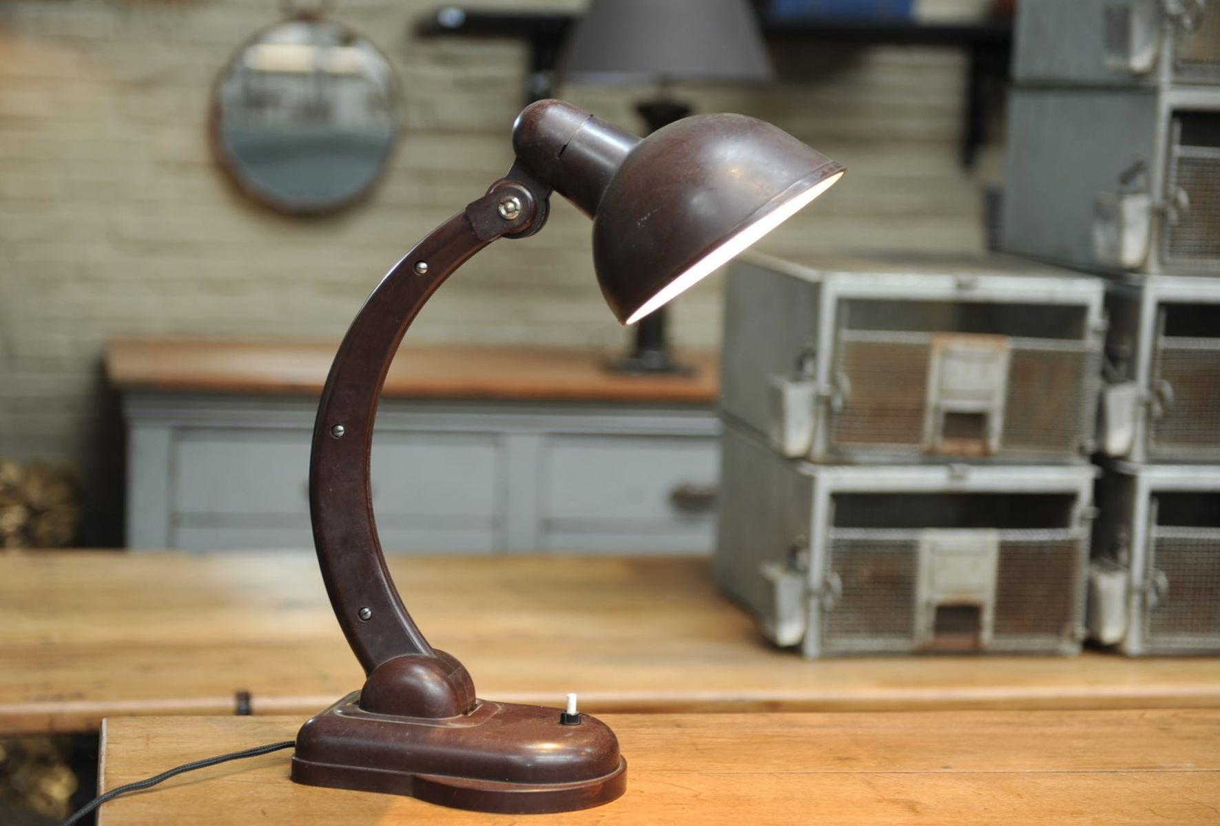 Lampe de bureau articul e en bak lite france 1930s en vente sur pamono - Lampe bureau articulee ...