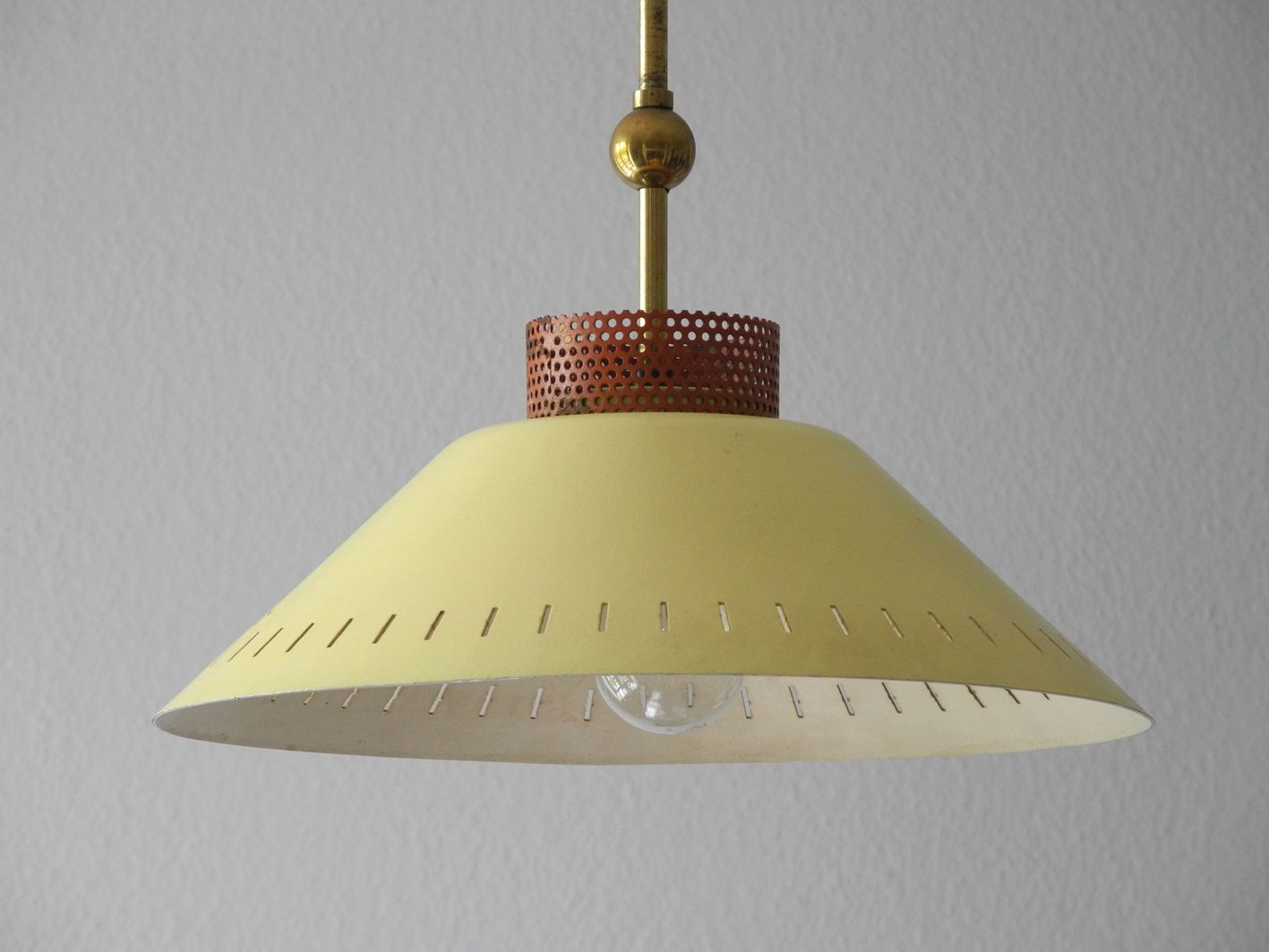 Mid Century Metal Shade Pendant Lamp For Sale At Pamono