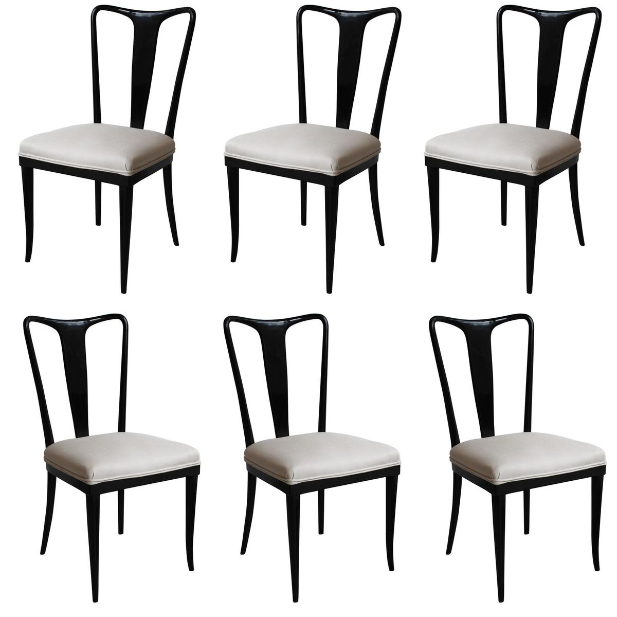 Italian dining chairs by gugliemo ulrich set of 6 for for Italian dining furniture
