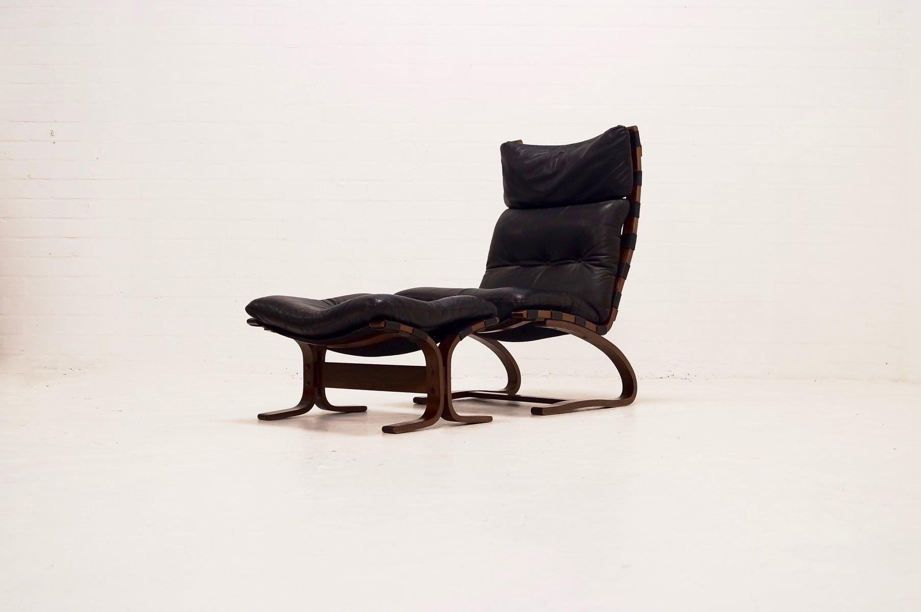 lounge stuhl ottoman set von ingmar relling f r westnofa. Black Bedroom Furniture Sets. Home Design Ideas