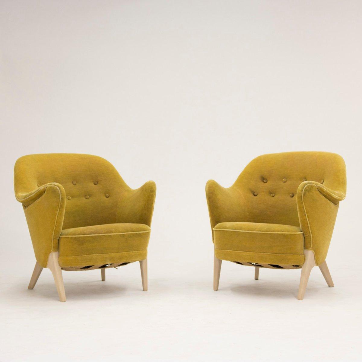 d nische lounge st hle von arne hovmand olsen 1950er 2er set bei pamono kaufen. Black Bedroom Furniture Sets. Home Design Ideas