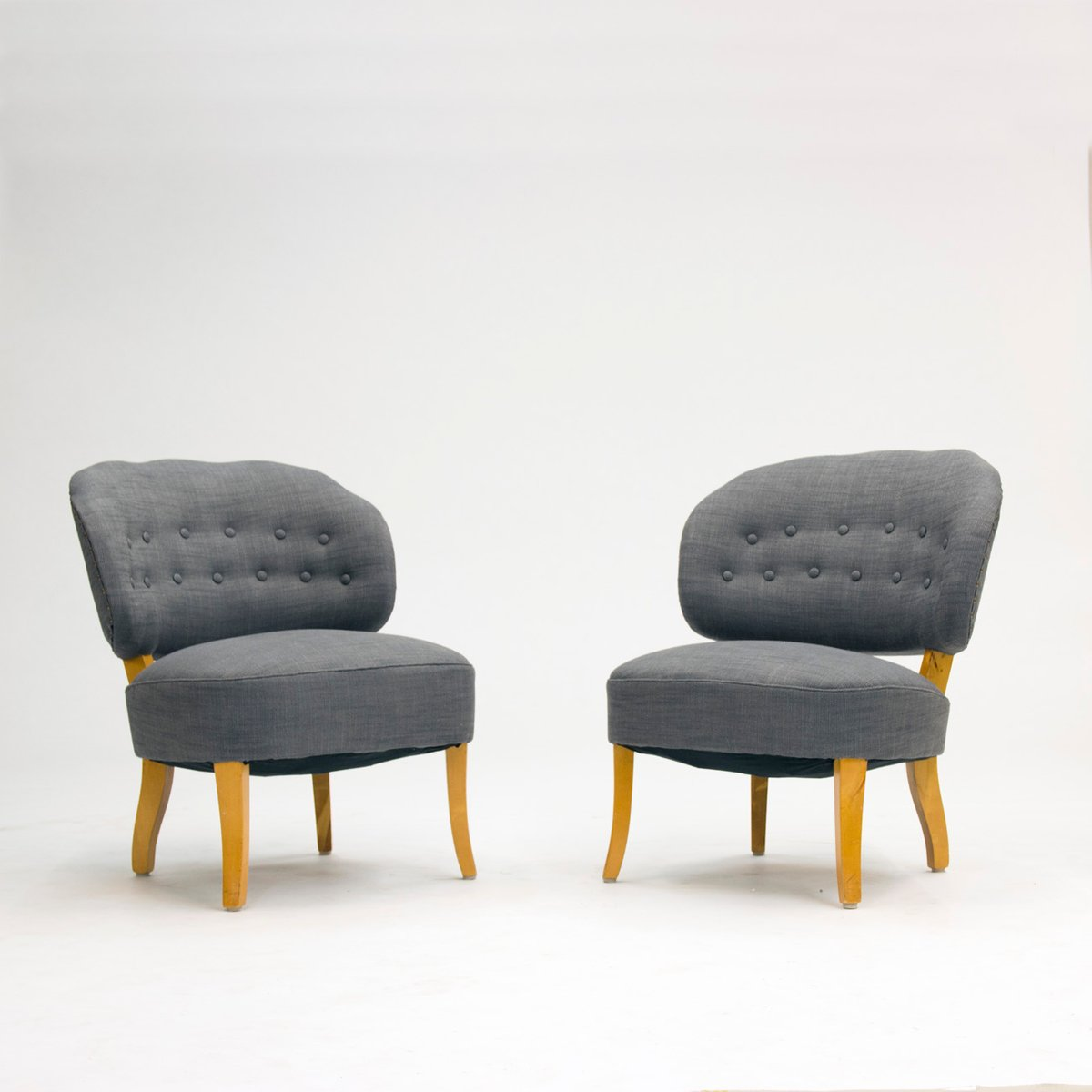 old berlin easy chairs by carl malmsten 1950s set of 2. Black Bedroom Furniture Sets. Home Design Ideas