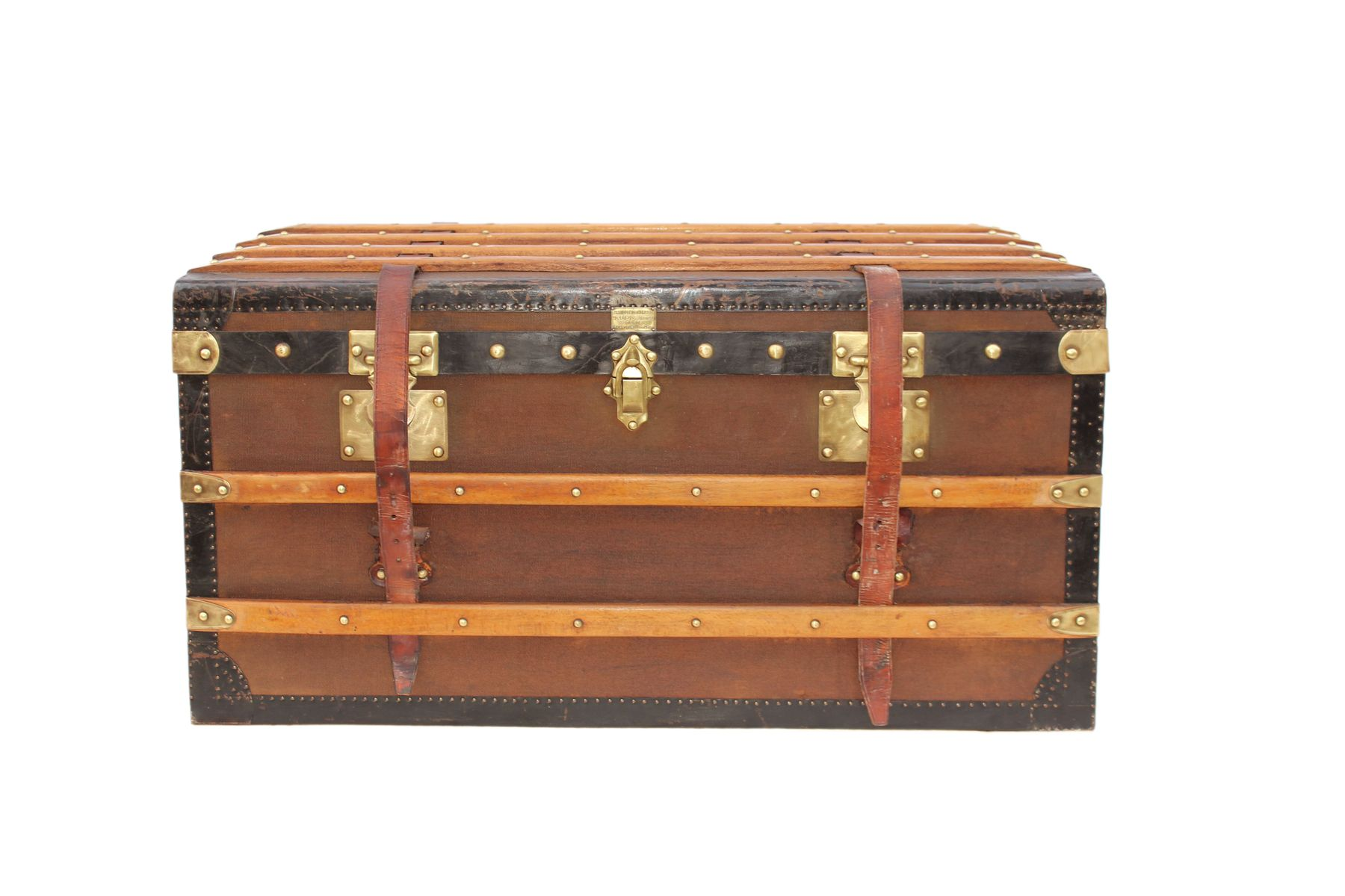 antique decorative bazar de l h tel de ville travel trunk for sale at pamono. Black Bedroom Furniture Sets. Home Design Ideas