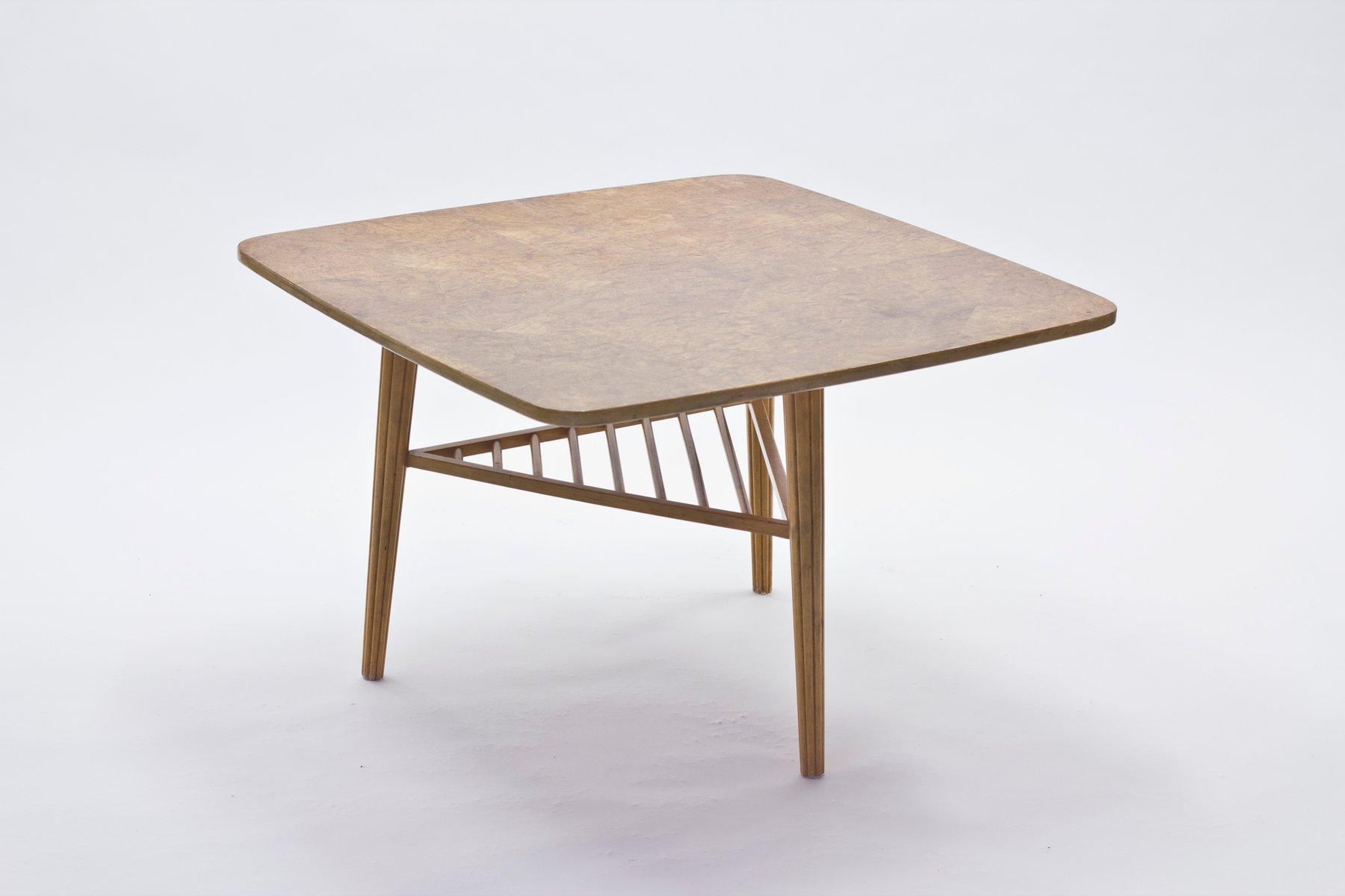 table basse avec dessus en placage de racine 1940s en vente sur pamono. Black Bedroom Furniture Sets. Home Design Ideas