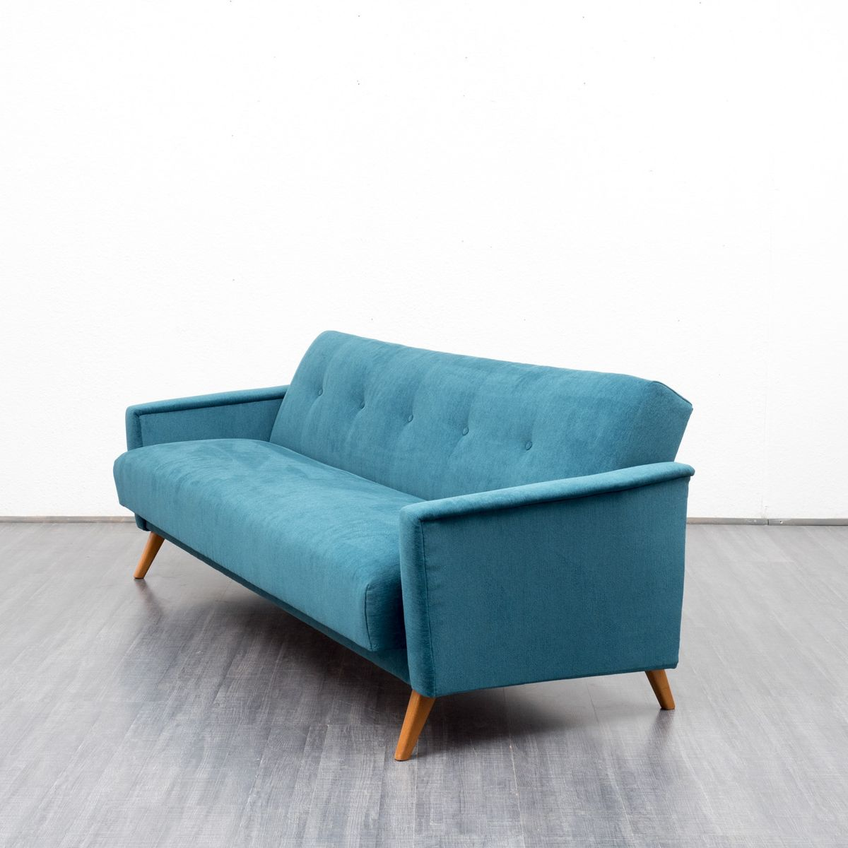 Petrol Blue Velours Couch And Daybed 1950s For Sale At Pamono