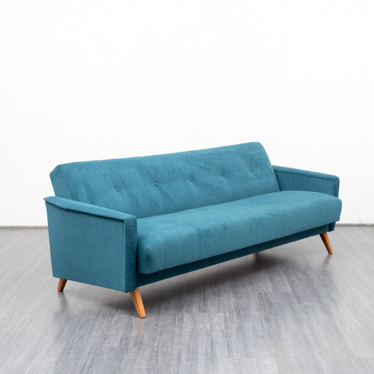 petrol blue velours couch and daybed 1950s for sale at pamono. Black Bedroom Furniture Sets. Home Design Ideas