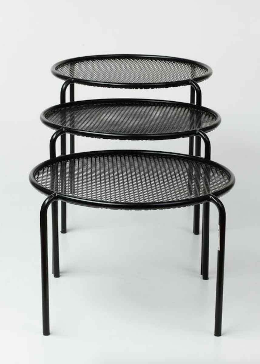 Small nesting tables 1980s set of 3 for sale at pamono for Small nest of tables