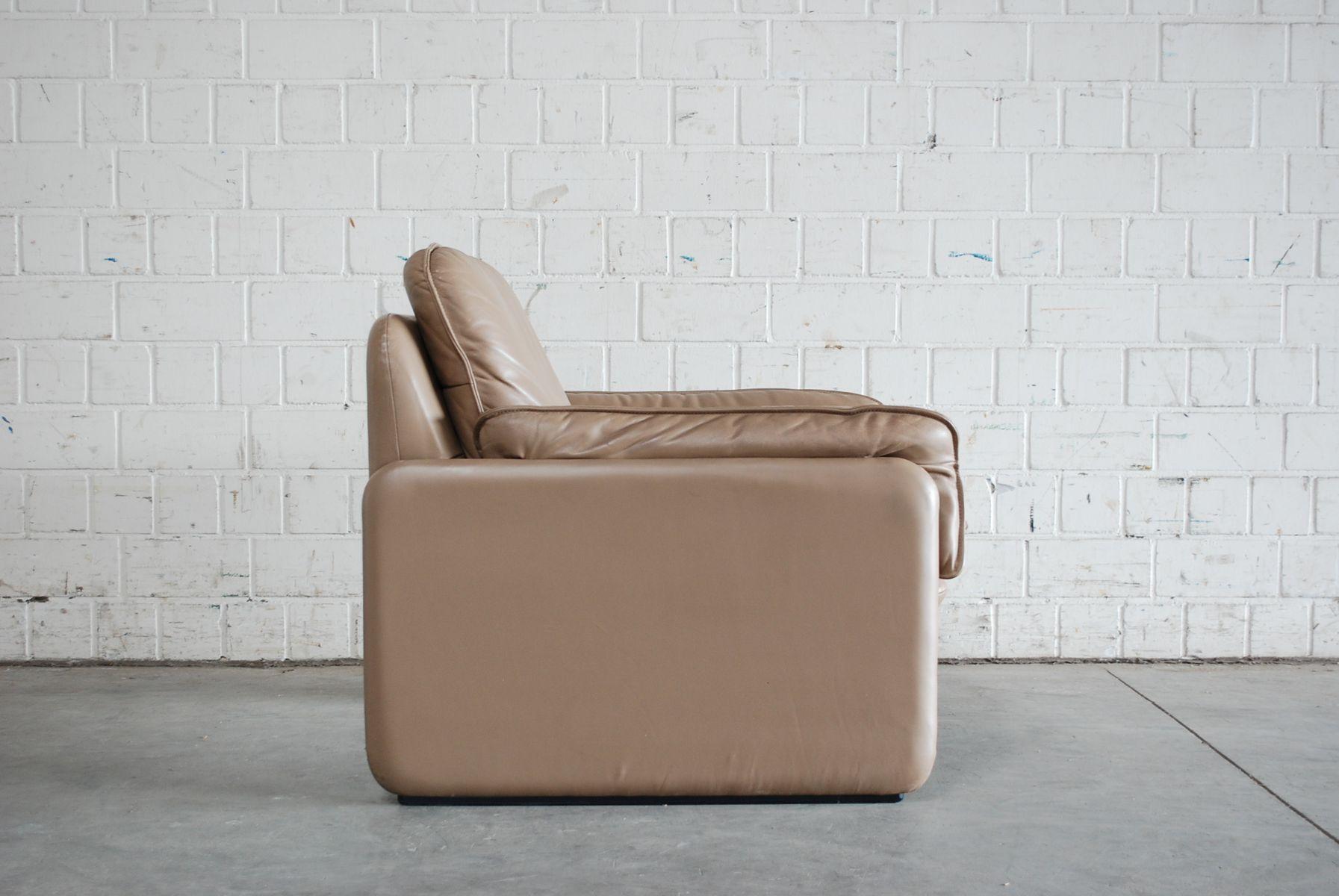 Canap et fauteuil mod le ds 61 vintage en cuir de de sede en vente sur pamono for Modele canape