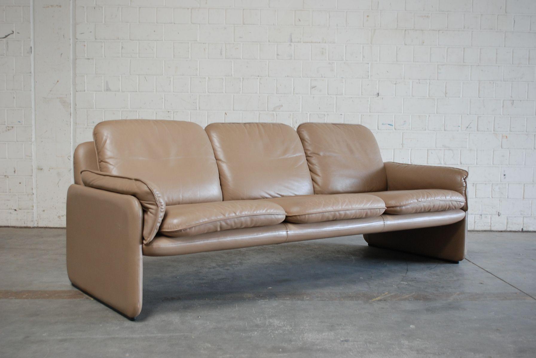 vintage ds 61 ledersofa und lounge stuhl von de sede bei pamono kaufen. Black Bedroom Furniture Sets. Home Design Ideas