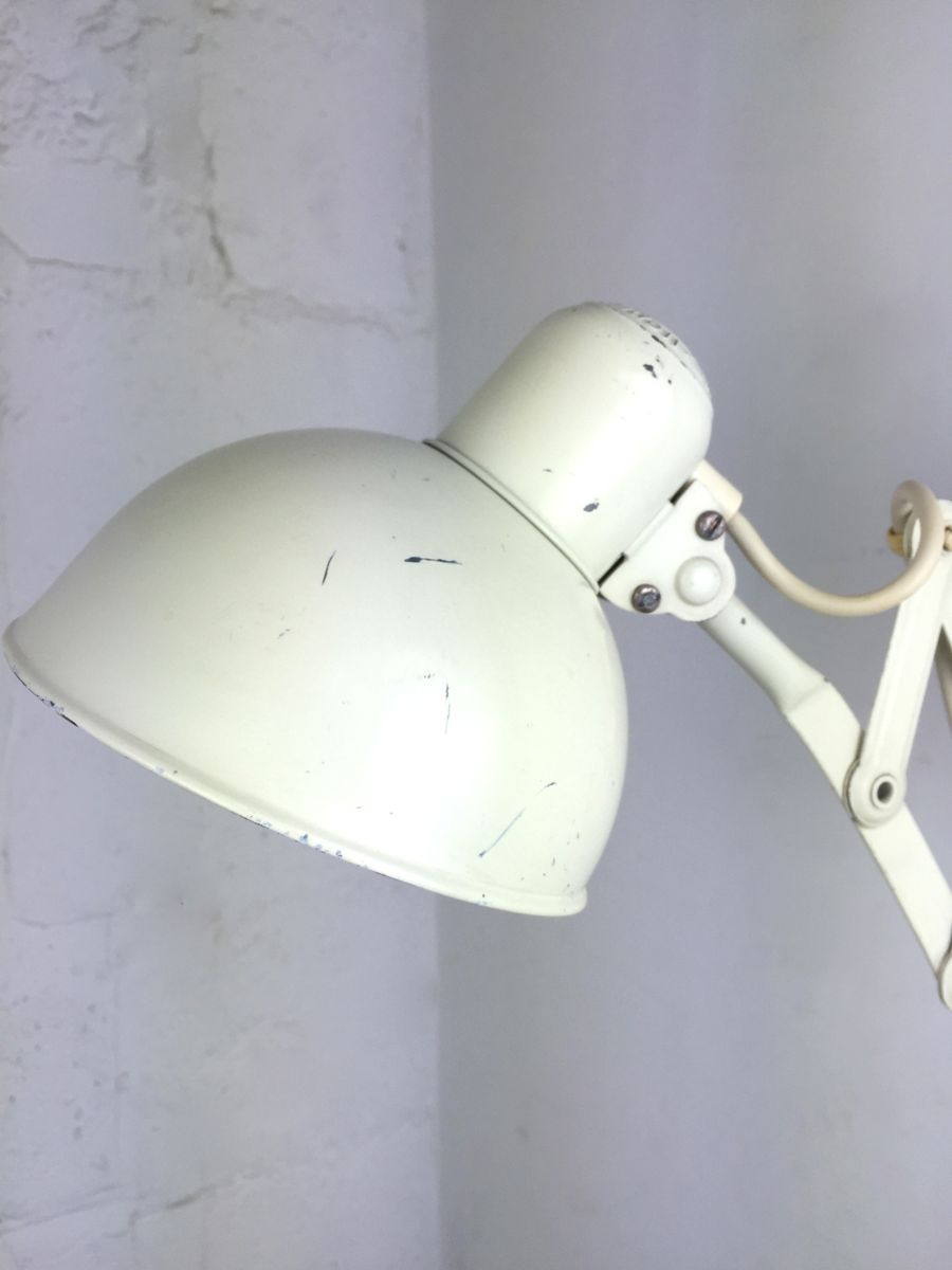 German Bauhaus Scissor Arm Wall Lamp By Christian Dell For