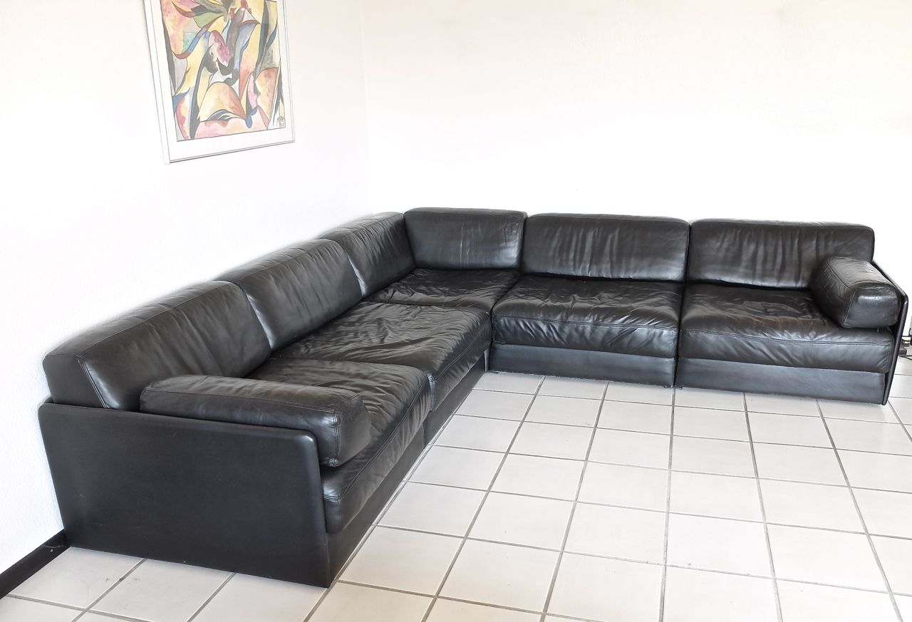 vintage ds 76 five seater sofa from de sede for sale at pamono. Black Bedroom Furniture Sets. Home Design Ideas