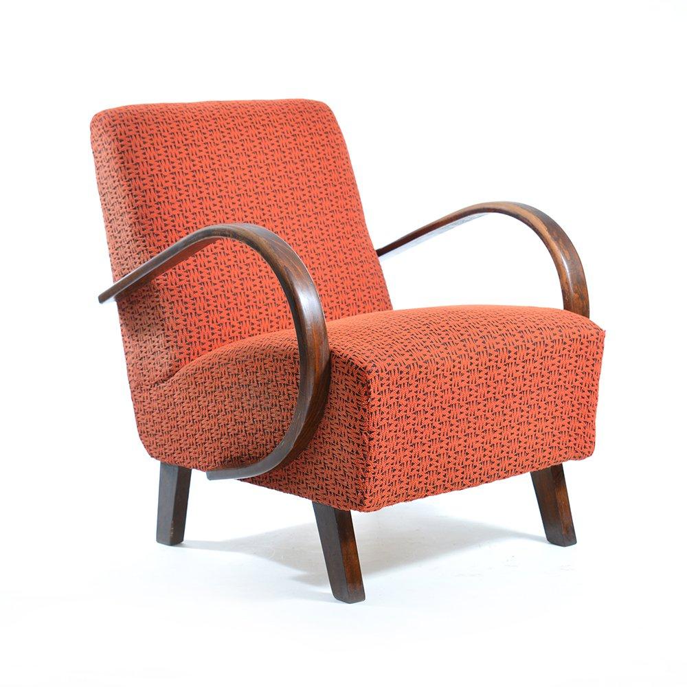 rote sessel von jind ich halabala f r up z vody 2er set bei pamono kaufen. Black Bedroom Furniture Sets. Home Design Ideas