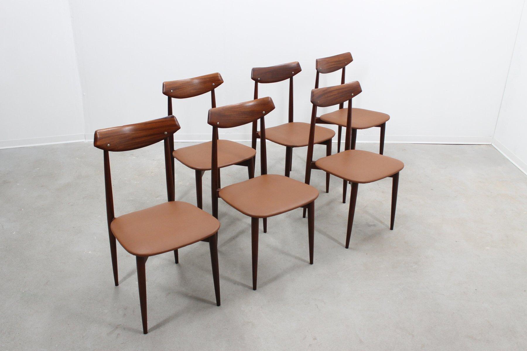 d nische moderne mid century st hle 6er set bei pamono kaufen. Black Bedroom Furniture Sets. Home Design Ideas