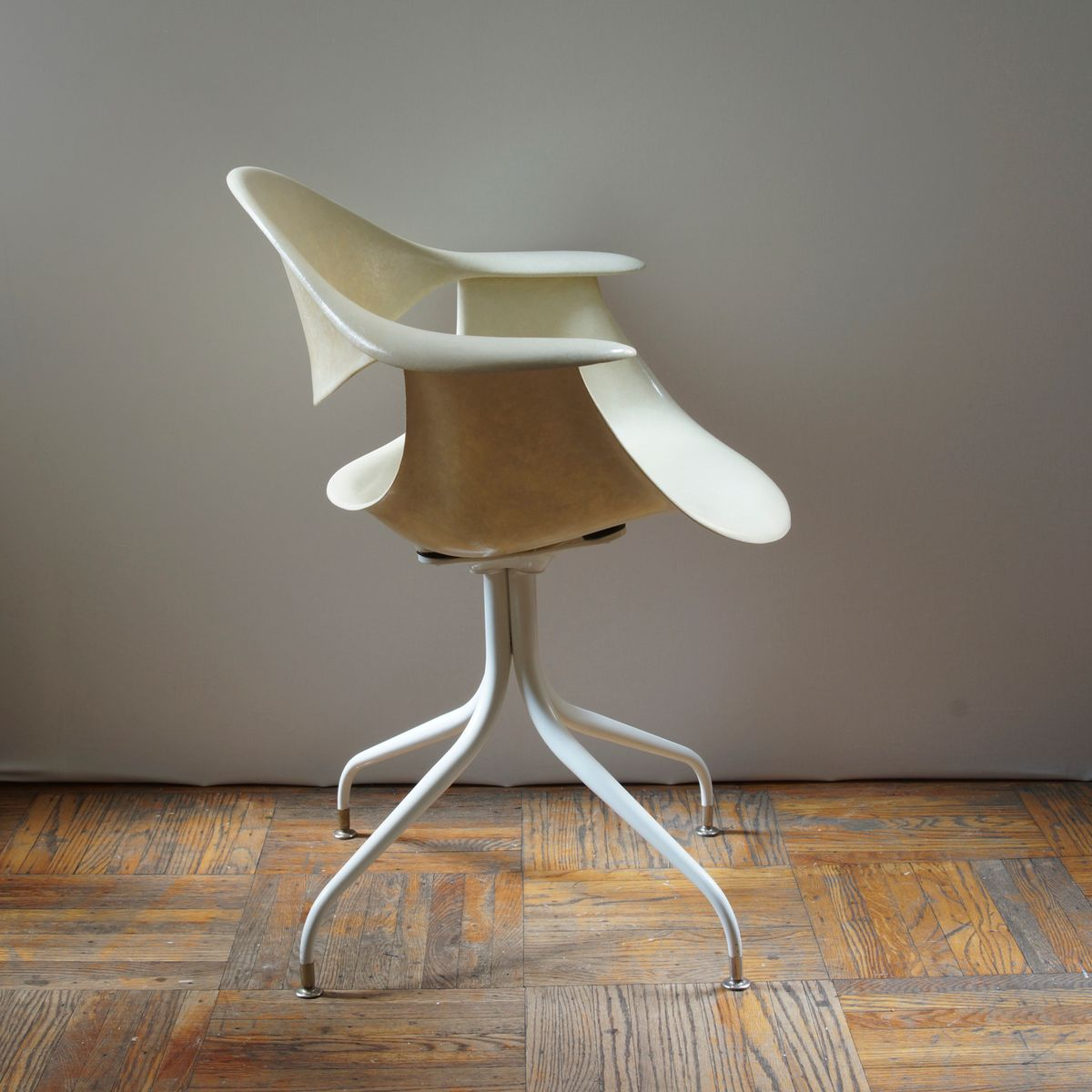 amerikanischer daf stuhl mit geschwungenen beinen von george nelson f r herman miller 1950er. Black Bedroom Furniture Sets. Home Design Ideas