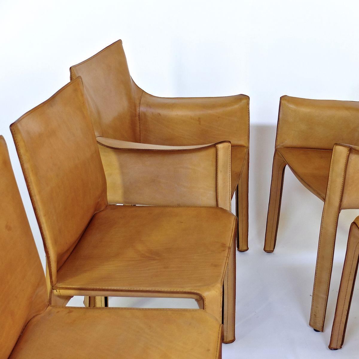 chaises de salon mod le cab 412 413 vintage par mario bellini pour cassina set de 6 en. Black Bedroom Furniture Sets. Home Design Ideas